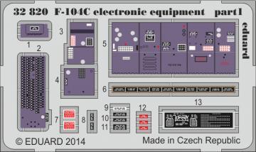 Starfighter F-104 C - Electronic equipment [Italeri] · EDU 32820 ·  Eduard · 1:32