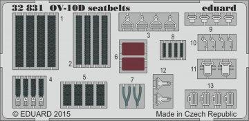 OV-10D Bronco - Seatbelts [Kitty Hawk] · EDU 32831 ·  Eduard · 1:32
