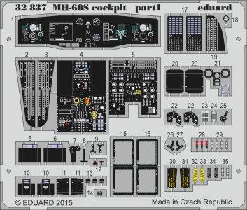 MH-60S - Cockpit [Academy] · EDU 32837 ·  Eduard · 1:35