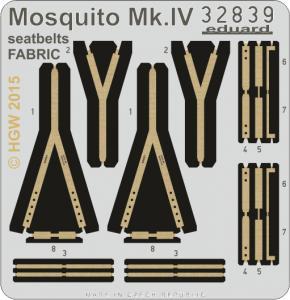 Mosquito MK.IV - Seatbelts FARBIC [HKM] · EDU 32839 ·  Eduard · 1:32