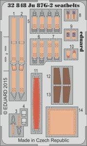Junkers Ju-87G-2 Stuka - Seatbelts [Trumpeter] · EDU 32848 ·  Eduard · 1:32