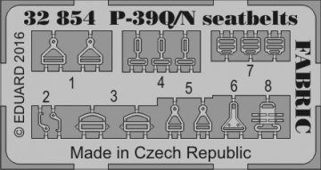 P-39 Q/N Airacobra - Seatbelts FABRIC [Kitty Hawk] · EDU 32854 ·  Eduard · 1:32