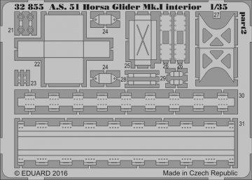 A.S. 51 Horsa Glider Mk.I - Interior [Bronco Models] · EDU 32855 ·  Eduard · 1:35