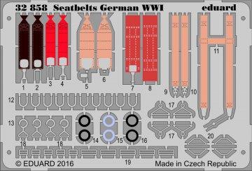 Seatbelts German WW1 · EDU 32858 ·  Eduard · 1:32