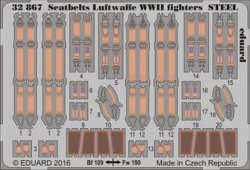 Seatbelts Luftwaffe WWII fighters STEEL · EDU 32867 ·  Eduard · 1:32