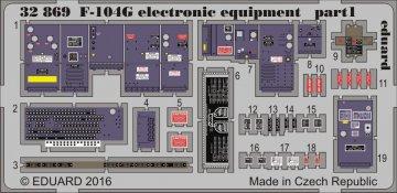 F-104G Starfighter - Electronic equipment [Italeri] · EDU 32869 ·  Eduard · 1:32