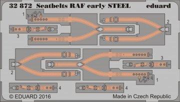Seatbelts RAF early STEEL · EDU 32872 ·  Eduard · 1:32