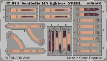 Seatbelts IJN fighters STEEL · EDU 32874 ·  Eduard · 1:32
