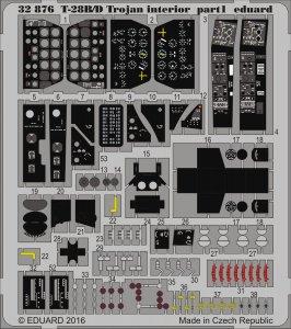T-28B/D Trojan - Interior [Kitty Hawk] · EDU 32876 ·  Eduard · 1:32