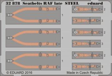 Seatbelts RAF late STEEL · EDU 32878 ·  Eduard · 1:32