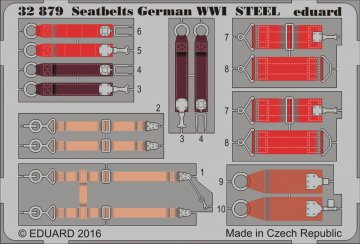 Seatbelts German WWI STEEL · EDU 32879 ·  Eduard · 1:32