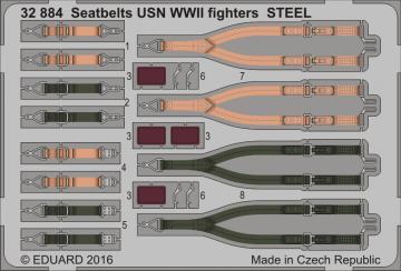 Seatbelts USN WWII fighters STEEL · EDU 32884 ·  Eduard · 1:32