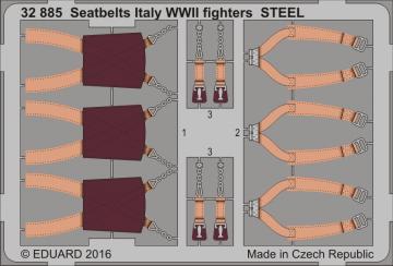 Seatbelts Italy WWII fighters STEEL · EDU 32885 ·  Eduard · 1:32
