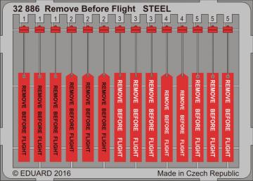 Remove Before Flight STEEL · EDU 32886 ·  Eduard · 1:32