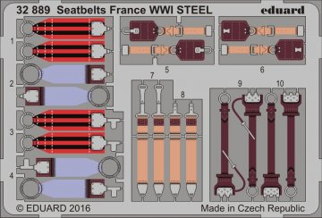 Seatbelts France WWI STEEL · EDU 32889 ·  Eduard · 1:32