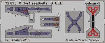 MiG-21 - Seatbelts STEEL · EDU 32895 ·  Eduard · 1:32