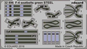 F-4 - Seatbelts green STEEL · EDU 32896 ·  Eduard · 1:32