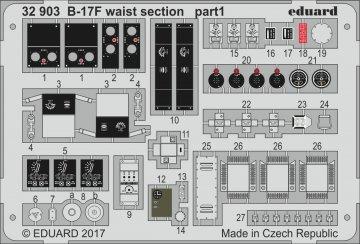Boeing B-17F - Waist section [HKM] · EDU 32903 ·  Eduard · 1:32