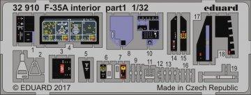Lockheed F-35A Lightning II - Interior [Italeri] · EDU 32910 ·  Eduard · 1:32