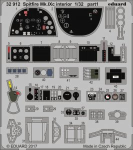 Spitfire Mk.IXc - Interior [Revell] · EDU 32912 ·  Eduard · 1:32
