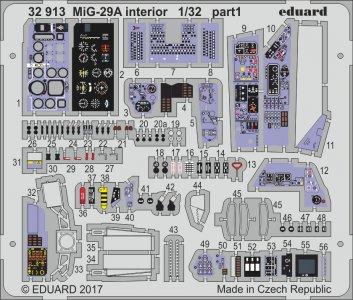 Russian MIG-29A Fulcrum - Interior [Trumpeter] · EDU 32913 ·  Eduard · 1:32