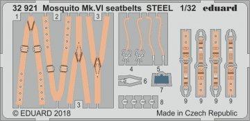 Mosquito Mk.VI - Seatbelts STEEL [Tamiya] · EDU 32921 ·  Eduard · 1:32