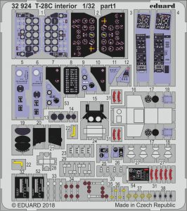 T-28C Trojan - Interior [Kitty Hawk] · EDU 32924 ·  Eduard · 1:32