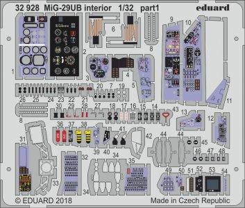 Russian MIG-29UB Fulcrum - Interior [Trumpeter] · EDU 32928 ·  Eduard · 1:32