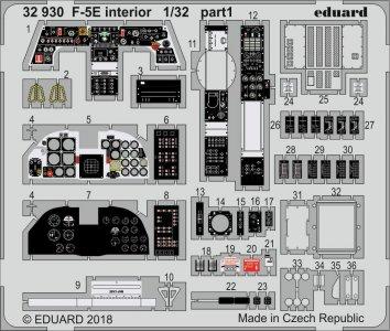 F-5E Tiger II - Interior [Kitty Hawk] · EDU 32930 ·  Eduard · 1:32
