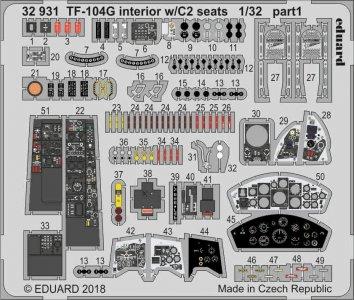 Starfighter TF-104G -  - Interior w/C2 seats [Italeri] · EDU 32931 ·  Eduard · 1:32