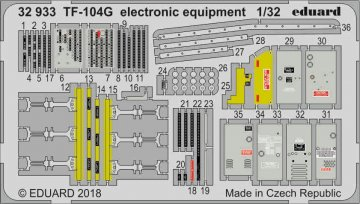 Starfighter TF-104G - Electronic equipment [Italeri] · EDU 32933 ·  Eduard · 1:32