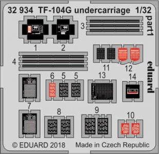 Starfighter TF-104G - Undercarriage [Italeri] · EDU 32934 ·  Eduard · 1:32