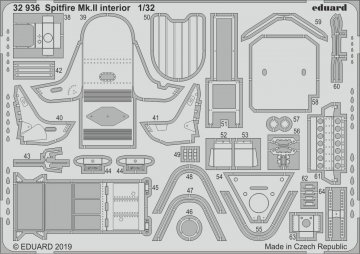 Spitfire Mk.II - Interior [Revell] · EDU 32936  ·  Eduard · 1:32