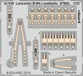 Lancaster B Mk.I - Seatbelts STEEL [HKM] · EDU 32939 ·  Eduard · 1:32