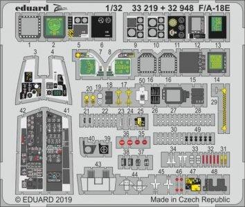 F/A-18E Super Hornet - Interior [Revell] · EDU 32948 ·  Eduard · 1:32