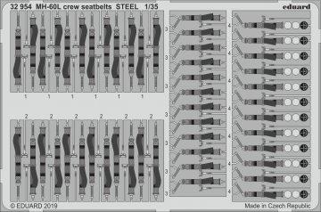 MH-60L Black Hawk- Crew seatbelts STEEL [Kitty Hawk] · EDU 32954 ·  Eduard · 1:35