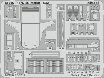P-47D-25 Thunderbolt - Interior [Hasegawa] · EDU 32956 ·  Eduard · 1:32