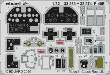 P-40E War Hawk - Interior [Trumpeter] · EDU 32974 ·  Eduard · 1:32