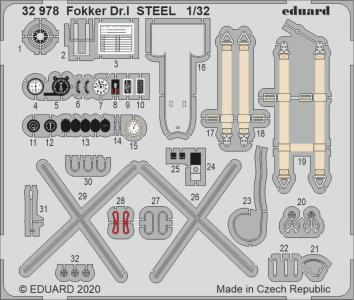 Fokker Dr.I - STEEL [Meng Models] · EDU 32978 ·  Eduard · 1:32