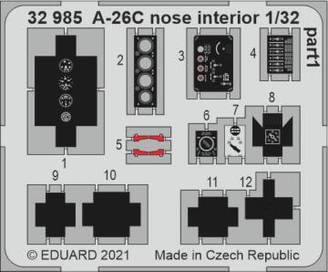 A-26C Invader - Nose interior [HobbyBoss] · EDU 32985 ·  Eduard · 1:32