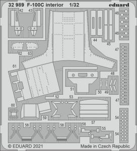 F-100C Super Sabre - Interior [Trumpeter] · EDU 32989 ·  Eduard · 1:32