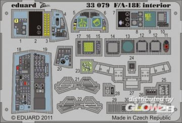 F/A-18E - Interior S.A. [Trumpeter] · EDU 33079 ·  Eduard · 1:32