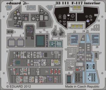 F-117 interior S.A. for Trumpeter · EDU 33111 ·  Eduard · 1:32