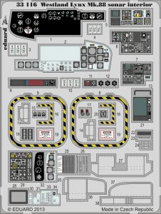 Lynx Mk.88 sonar - Interior S.A. [Revell] · EDU 33116 ·  Eduard · 1:32