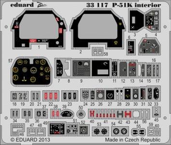 Mustang P-51K - Interior S.A. [Tamiya] · EDU 33117 ·  Eduard · 1:32