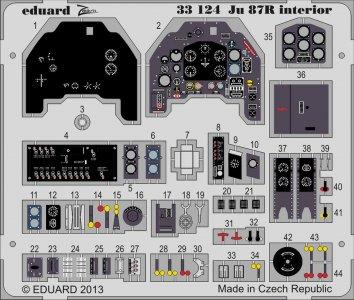 Junkers Ju 87 R - Interior S.A. [Trumpeter] · EDU 33124 ·  Eduard · 1:32