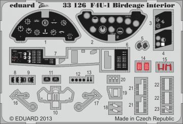 F4U-1 Corsair Birdcage - Interior S.A. [Tamiya] · EDU 33126 ·  Eduard · 1:32