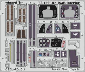 Messerschmitt Me 163 B Komet - Interior S.A. [Meng Model] · EDU 33130 ·  Eduard · 1:32