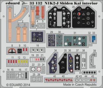 N1K2-J Shiden Kai - Interior S.A. [Hasegawa] · EDU 33132 ·  Eduard · 1:32