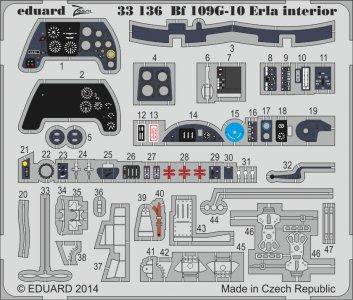 Messerschmitt Bf 109 G-10 Erla - Interior S.A. [Revell] · EDU 33136 ·  Eduard · 1:32